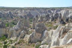 El valle del amor en la región de Cappadocia foto de archivo
