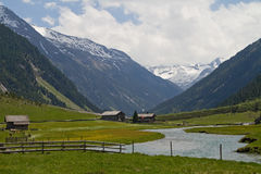 El valle del dolor de Krimmler Foto de archivo libre de regalías
