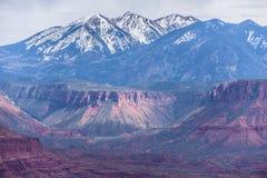 El valle del profesor de la meseta de la bóveda pasa por alto Utah Fotos de archivo