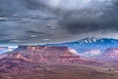 El valle del profesor de la meseta de la bóveda pasa por alto Utah Fotografía de archivo libre de regalías