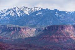 El valle del profesor de la meseta de la bóveda pasa por alto Utah Fotos de archivo libres de regalías