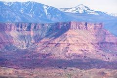 El valle del profesor de la meseta de la bóveda pasa por alto Utah Foto de archivo libre de regalías