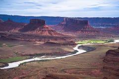 El valle del profesor del río Colorado pasa por alto Utah Foto de archivo