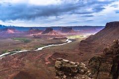 El valle del profesor del río Colorado pasa por alto Utah Fotografía de archivo