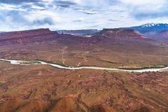 El valle del profesor del río Colorado pasa por alto Utah Fotos de archivo
