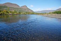 El valle del río Mikchangda. Foto de archivo