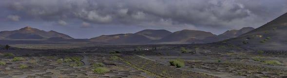 El valle del vino del La Geria - Lanzarote, islas Canarias Fotos de archivo libres de regalías
