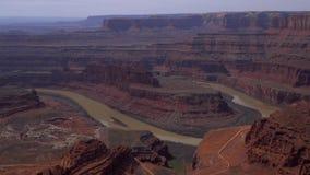 El valle infinito en el punto del caballo muerto en Utah almacen de video