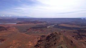 El valle infinito en el punto del caballo muerto en Utah almacen de metraje de vídeo