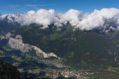 El valle lauterbrunnen Fotografía de archivo