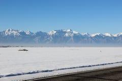 El valle nevado Imagen de archivo libre de regalías