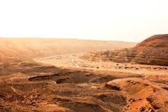 El valle Sáhara de Degla del desierto Fotografía de archivo