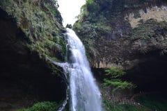 El valle se cose con las pequeñas corrientes del agua Imagenes de archivo