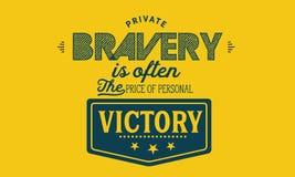 El valor privado es a menudo el precio de la victoria personal stock de ilustración