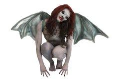 El vampiro femenino tiene gusto de la criatura Imagenes de archivo