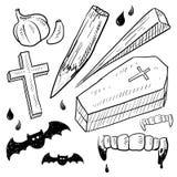 El vampiro se opone bosquejo libre illustration