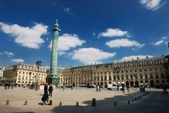El Vandome cuadrado (vandome del lugar) en París, franco Imagenes de archivo