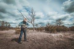 El vaquero dobla la cuerda, Fotos de archivo libres de regalías