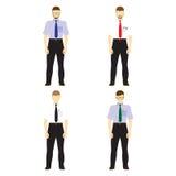 El varón figura a los avatares, iconos Hombres de negocios Imagen de archivo libre de regalías