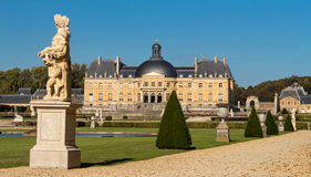 El Vaux-le-Vicomte castle, cerca de París, Francia Fotografía de archivo