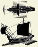 El vector 01 de la nave del griego clásico Imagenes de archivo