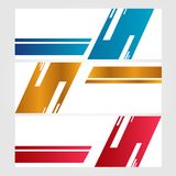 El vector abstracto de la plantilla del web de la bandera del diseño aisló el fondo ilustración del vector