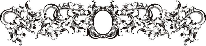 El vector adorna el marco Foto de archivo