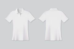 El vector aisló la camiseta blanca del polo para la mofa para arriba libre illustration