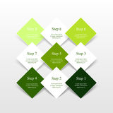 El vector alinea las flechas infographic Imagen de archivo libre de regalías
