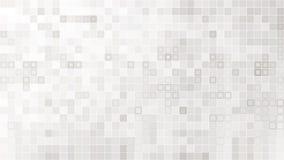 El vector blanco ajustó el modelo inconsútil del mosaico Fotografía de archivo libre de regalías