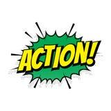 El vector cómico de la burbuja del discurso del texto de la acción de la venta que hacía compras aisló el icono stock de ilustración