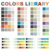 El vector colorea la biblioteca Foto de archivo