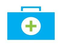 El vector colorido del icono del equipo de primeros auxilios aisló el fondo blanco Fotografía de archivo libre de regalías