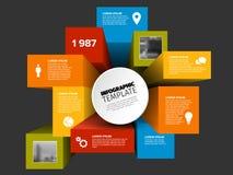 El vector 3D cubica la plantilla infographic libre illustration