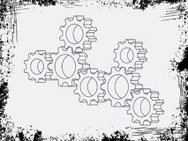 El vector de la asamblea adapta con el marco del grunde en modelo del fondo stock de ilustración