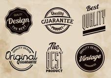 El vector de la calidad del vintage etiqueta la colección stock de ilustración