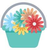 El vector de la cesta de la flor aisló los iconos del vector que pueden ser modificados y corregir fácilmente libre illustration