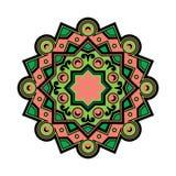 El vector Deco hermoso coloreó la mandala, elemento modelado del diseño, amuleto étnico ilustración del vector