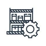 El vector del icono de los productos aislado en el fondo blanco, productos firma stock de ilustración