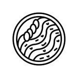 El vector del icono de los tallarines del Wonton aislado en el fondo blanco, tallarines del Wonton firma libre illustration