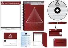 El vector del modelo de la identidad corporativa fijó 2010 Fotografía de archivo