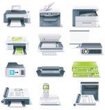 El vector detalló el conjunto del icono de las piezas del ordenador. Parte 4 Imágenes de archivo libres de regalías