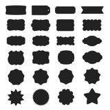 El vector enmarca siluetas Fotografía de archivo