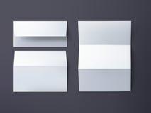El vector envuelve la maqueta envuelve y la hoja de papel en fondo gris oscuro libre illustration