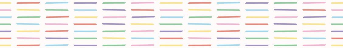 El vector exhausto de la mano coge rayas de la forma del palillo stock de ilustración