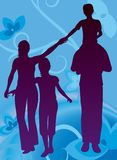 El vector floral de la familia stock de ilustración