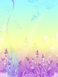 El vector floral tiene gusto del fondo Imagen de archivo