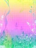 El vector floral tiene gusto del fondo Fotografía de archivo libre de regalías