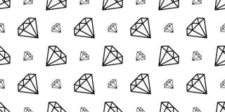 El vector inconsútil de la joyería del modelo de la gema del diamante aisló el icono del papel pintado de la repetición del fondo stock de ilustración