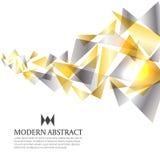 El vector moderno del fondo del extracto del arte del triángulo del oro y de la plata diseña
